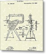 Scroll-saw 1880 Patent Art Metal Print