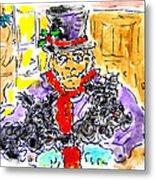 Scrooge And Scotties Metal Print