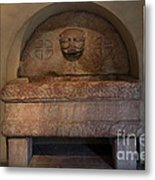 Sculpture At The Cloisters Metal Print