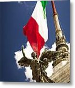 Sculpture Of Angel On The Background Of The Italian Flag Metal Print