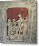 Sculptured Vatican Ceiling Metal Print