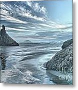 Sculptures On The Shore Metal Print