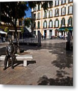 Scupture Of Picasso On The Plaza De La Metal Print