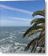 Sea And Palm Tree Metal Print