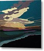 Sea And Sky In Colour Metal Print