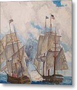 Sea Battle-war Of 1812 Metal Print