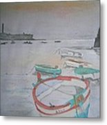 Sea Boat Metal Print