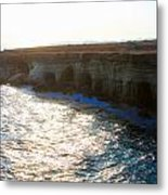 Sea Caves Metal Print