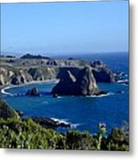 Sea Coast Of Northern California Metal Print