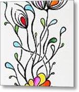 Sea Flowers Metal Print by Carolyn Weir