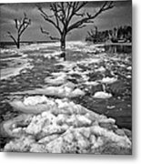 Sea Foam Botany Bay Metal Print