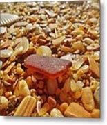 Sea Glass And Shells 3 10/13 Metal Print