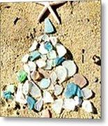 Sea Glass Tree Metal Print