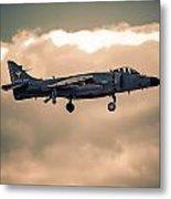 Sea Harrier Silhouette Metal Print