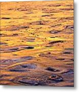 Sea Ice Forming Metal Print
