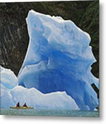 Sea Kayaking With Icebergs Tracy Arm Metal Print