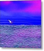 Sea. Last Rays Of Sun Metal Print