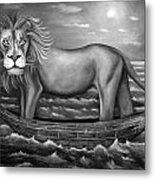 Sea Lion In Bw Metal Print