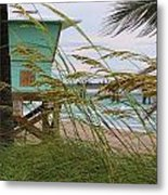 Sea Oats And The Tower Metal Print