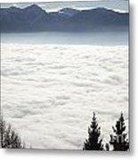 Sea Of Fog And Alps Metal Print
