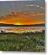 Sea Of Galilee Sunset Metal Print