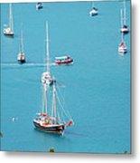 Sea Of Sailboats Metal Print