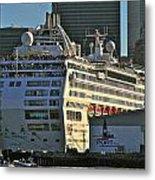 Sea Princess At Pier 29 San Francisco Metal Print