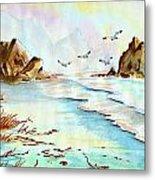 Sea Shore Impressions Metal Print