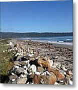 Sea Shore With Rocks Metal Print