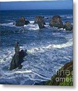 Sea Stacks Central Coast Near Rockport California Metal Print