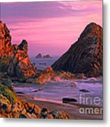 Sea Stacks Clearing Storm Harris State Beach Oregon Metal Print