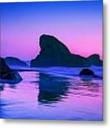 Sea Stacks on the Oregon Coast Metal Print