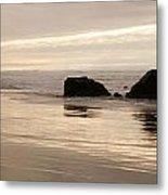 Sea Stacks Panorama Metal Print