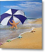 Sea Star Celebration  Metal Print