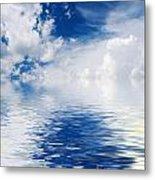 Sea Sun And Clouds Metal Print