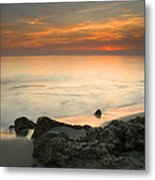 Sea Sunset Metal Print