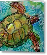 Sea Turtle Endangered Beauty Metal Print