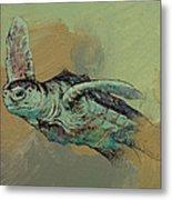 Sea Turtle Metal Print by Michael Creese