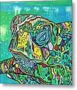 Sea Turtle Sam Metal Print