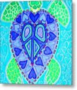Sea Turtle Swim Metal Print