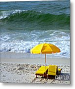By The Sea Waiting For Me Metal Print