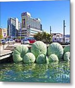 Sea Urchin Sculpture Wellington New Zealand Metal Print