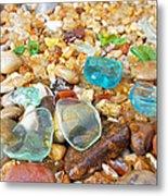 Seaglass Coastal Beach Rock Garden Agates Metal Print