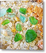 Seaglass Green Art Prints Agates Beach Garden Metal Print