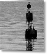 Seagull And Buoy Metal Print