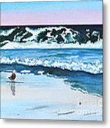 Seagull In The Sand Metal Print