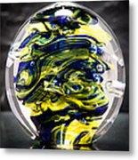 Seahawks Glass -  Solid Glass Sculpture  Metal Print