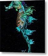 Seahorse II Underwater Ripple Metal Print