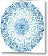 Seahorse Mandala Metal Print