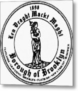 Seal Of Brooklyn Metal Print